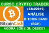 Análise Bitcoin Cash (1) 2019. Análise técnica BCH hoje. Correção WXY, quase 98% retração fibonacci