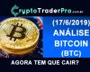 Análise Bitcoin 2019 (15). Análise técnica btc hoje. Agora tem que cair?